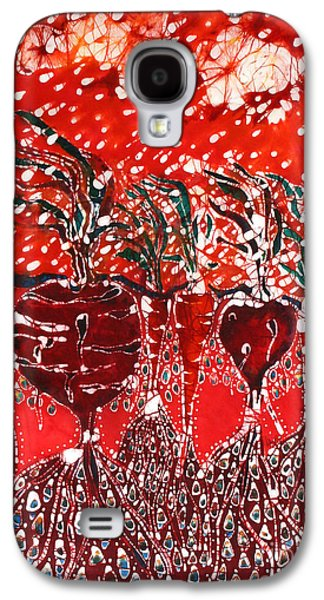 Storm Prints Tapestries - Textiles Galaxy S4 Cases - Blowing Rain on Garden Galaxy S4 Case by Carol Law Conklin
