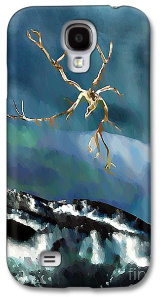 Avant Garde Mixed Media Galaxy S4 Cases - Blown Away to Sea Galaxy S4 Case by Sarah Loft
