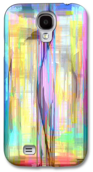 Shower Curtain Galaxy S4 Cases - Blue Abstract 2 Galaxy S4 Case by Rafael Salazar