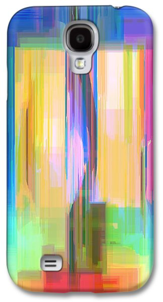 Shower Curtain Galaxy S4 Cases - Blue Abstract  Galaxy S4 Case by Rafael Salazar