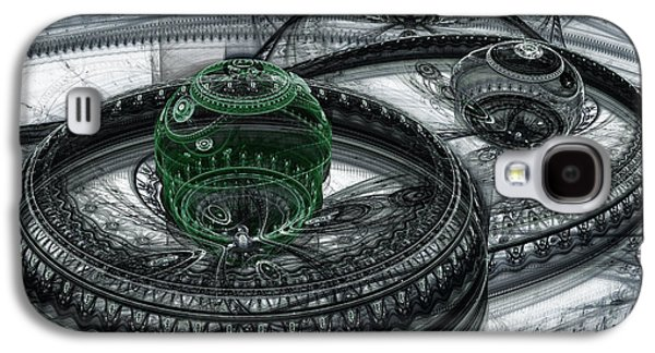 Abstract Digital Digital Galaxy S4 Cases - Dark Alien Landscape Galaxy S4 Case by Martin Capek