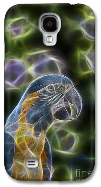 Blue And Gold Macaw  Galaxy S4 Case by Douglas Barnard