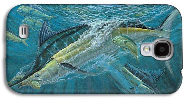 Blue Marlin Galaxy S4 Cases - Blue And Mahi Mahi Underwater Galaxy S4 Case by Terry Fox