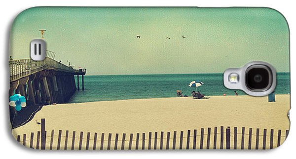 Pier Digital Galaxy S4 Cases - Blue and White Galaxy S4 Case by Laurie Search