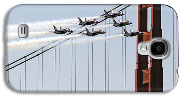 Blue Angels And The Bridge Galaxy S4 Case by Bill Gallagher