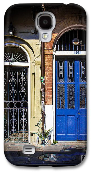 Historical Pictures Galaxy S4 Cases - Blue Arch Door Galaxy S4 Case by Perry Webster