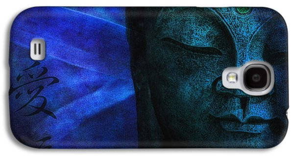 Character Portraits Photographs Galaxy S4 Cases - Blue Balance Galaxy S4 Case by Joachim G Pinkawa