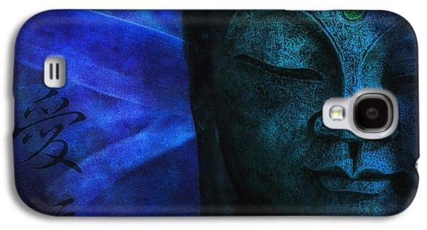 Statue Portrait Galaxy S4 Cases - Blue Balance Galaxy S4 Case by Joachim G Pinkawa