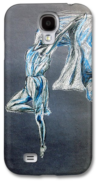 Ballet Dancers Pastels Galaxy S4 Cases - Blue Ballerina dance art Galaxy S4 Case by Tom Conway