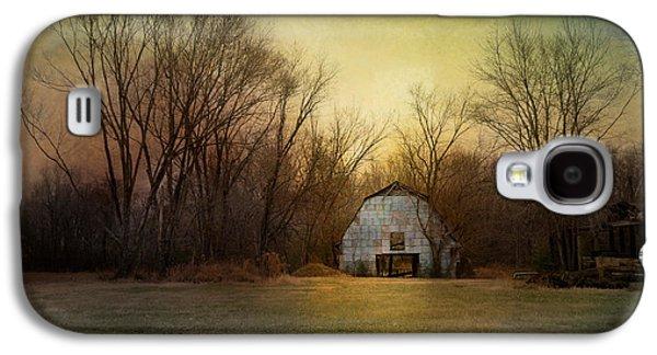 Tennessee Barn Galaxy S4 Cases - Blue Barn At Sunrise Galaxy S4 Case by Jai Johnson
