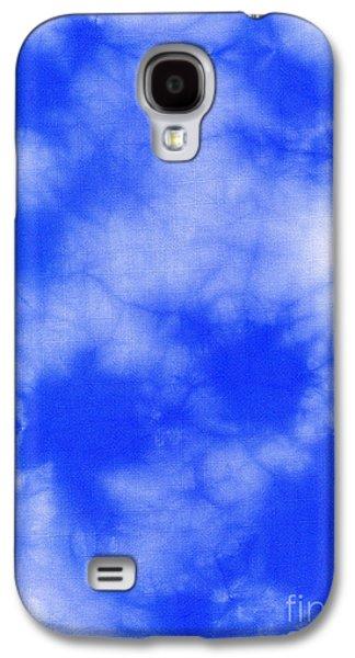 Light Tapestries - Textiles Galaxy S4 Cases - Blue batik pattern  Galaxy S4 Case by Kerstin Ivarsson
