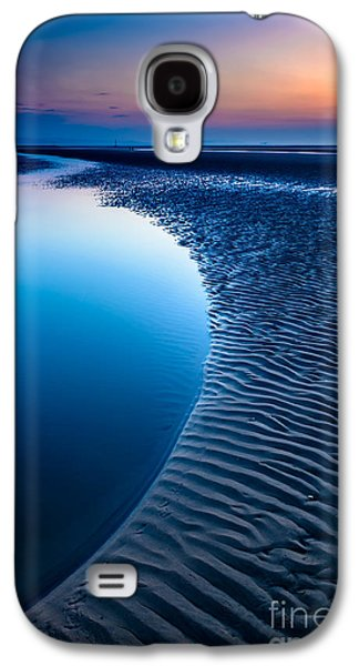 Evening Digital Galaxy S4 Cases - Blue Beach  Galaxy S4 Case by Adrian Evans