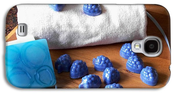 Blue Galaxy S4 Cases - Blue Berries Mini Soaps Galaxy S4 Case by Anastasiya Malakhova
