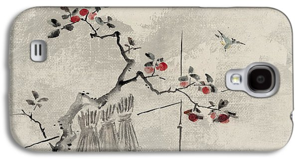 Fruit Tree Art Galaxy S4 Cases - Blue bird Galaxy S4 Case by Aged Pixel