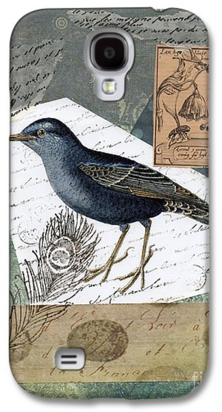 Nature Study Mixed Media Galaxy S4 Cases - Blue Bird Study Galaxy S4 Case by Tamyra Crossley
