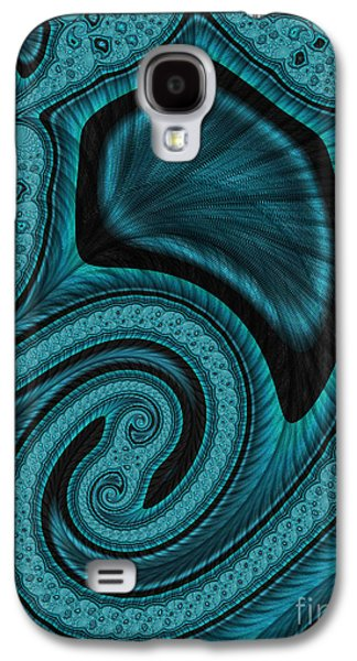 Blue Abstracts Digital Galaxy S4 Cases - Blue Blood Galaxy S4 Case by John Edwards