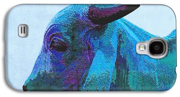 Cow Digital Galaxy S4 Cases - Blue Brahma Galaxy S4 Case by Ann Powell
