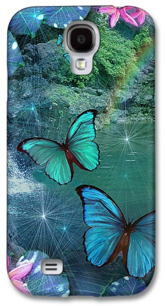 Fantasy Photographs Galaxy S4 Cases - Blue Butterfly Dream Galaxy S4 Case by Alixandra Mullins