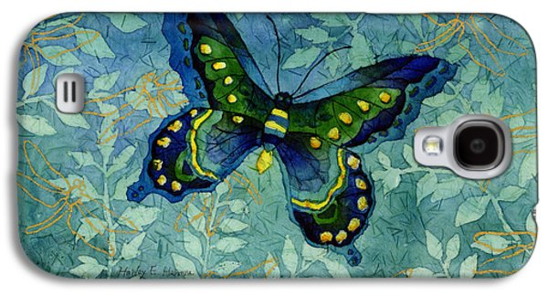 Digital Paintings Galaxy S4 Cases - Blue Butterfly Galaxy S4 Case by Hailey E Herrera