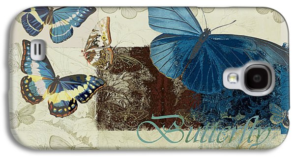 Variants Galaxy S4 Cases - Blue Butterfly - j152164152-01 Galaxy S4 Case by Variance Collections