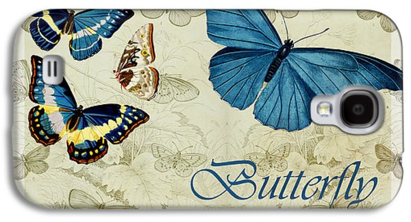 Variants Galaxy S4 Cases - Blue Butterfly - s01a Galaxy S4 Case by Variance Collections