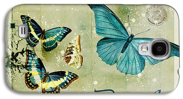 Variants Galaxy S4 Cases - Blue Butterfly - s55c01 Galaxy S4 Case by Variance Collections