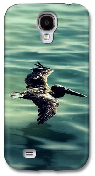 Coasting Galaxy S4 Cases - Blue Canvas Galaxy S4 Case by Ed Smith