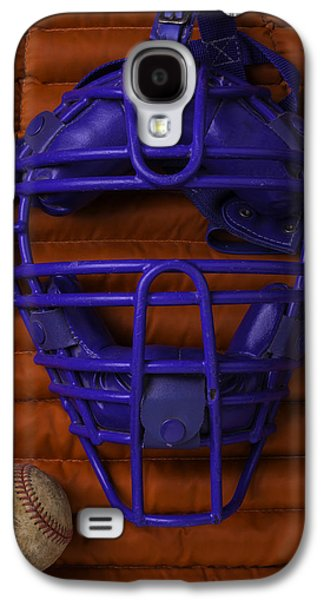 Sports Photographs Galaxy S4 Cases - Blue Catchers Mask Galaxy S4 Case by Garry Gay
