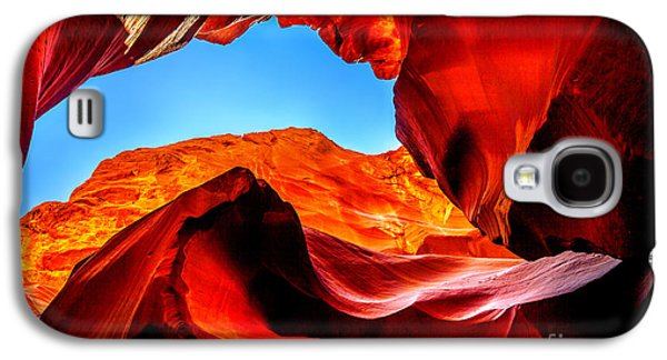 Landscape Photographs Galaxy S4 Cases - Blue Ceiling Galaxy S4 Case by Az Jackson