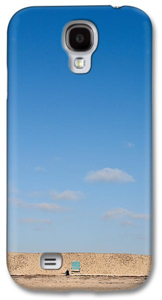Beach Chair Galaxy S4 Cases - Blue Chair Number 1 Galaxy S4 Case by Peter Tellone