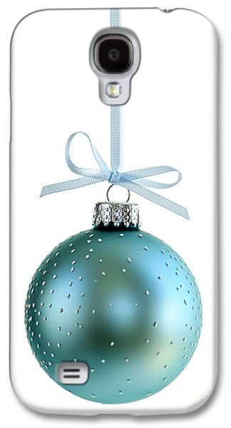 Festivities Galaxy S4 Cases - Blue Christmas ornament Galaxy S4 Case by Elena Elisseeva