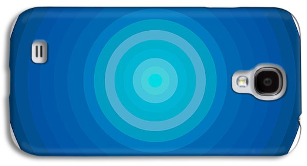 Gradient Galaxy S4 Cases - Blue Circles Galaxy S4 Case by Frank Tschakert