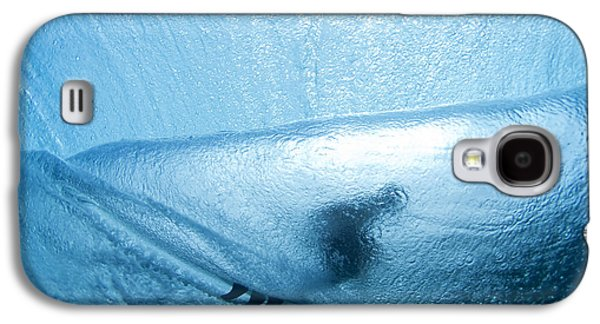 Surf Silhouette Galaxy S4 Cases - Blue Cocoon Galaxy S4 Case by Sean Davey