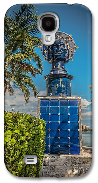 Statue Portrait Galaxy S4 Cases - Blue Crown statue Miami downtown Galaxy S4 Case by Ian Monk