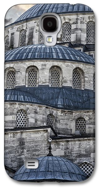 Religious Galaxy S4 Cases - Blue Dawn Blue Mosque Galaxy S4 Case by Joan Carroll