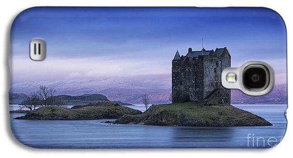 Colour Image Photographs Galaxy S4 Cases - Blue Dawn Castle Stalker Scotland Galaxy S4 Case by John Potter
