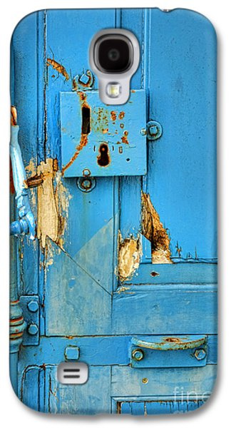 Historic Home Galaxy S4 Cases - Blue Door Blues Galaxy S4 Case by Olivier Le Queinec