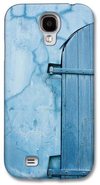 Slaves Galaxy S4 Cases - Blue Door in St. Thomas Virgin Islands Galaxy S4 Case by Jared Shomo