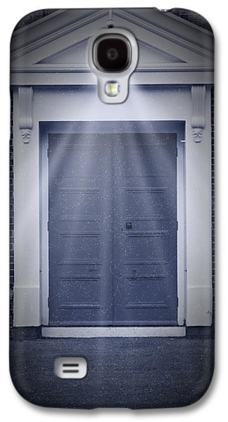 Haunted House Digital Galaxy S4 Cases - Blue Door Galaxy S4 Case by Svetlana Sewell