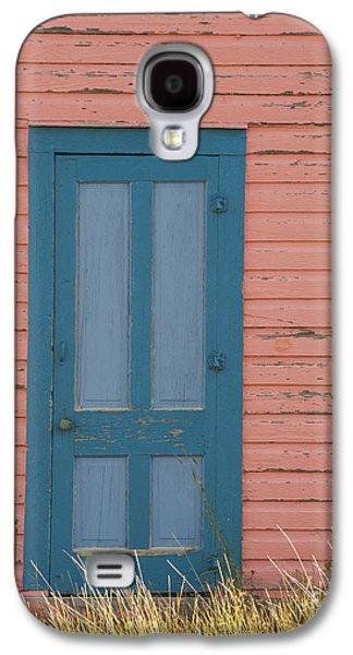 Entrance Door Galaxy S4 Cases - Blue Entrance Door Galaxy S4 Case by Juli Scalzi