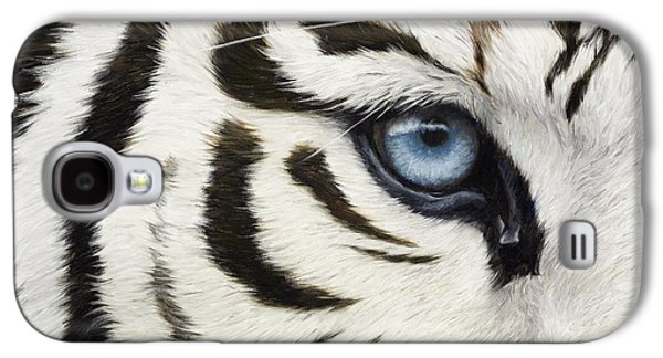 Tiger Galaxy S4 Cases - Blue Eye Galaxy S4 Case by Lucie Bilodeau