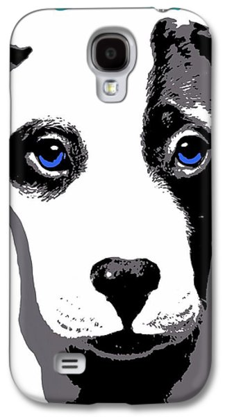 Recently Sold -  - Puppy Digital Galaxy S4 Cases - Blue Eyed Bully Galaxy S4 Case by Cindy Edwards