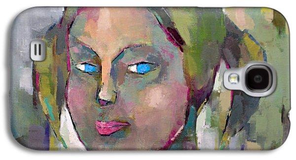 Bsk Galaxy S4 Cases - Blue Eyes Galaxy S4 Case by Becky Kim