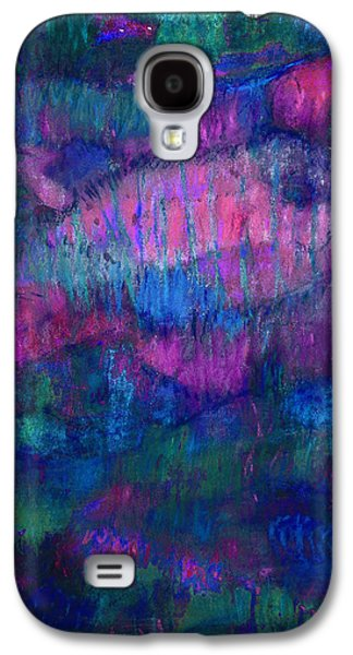 Abstract Seascape Pastels Galaxy S4 Cases - Blue Fish Galaxy S4 Case by Tolere