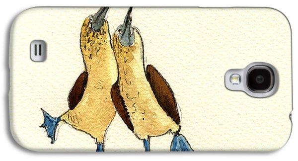 Seabirds Galaxy S4 Cases - Blue footed boobies Galaxy S4 Case by Juan  Bosco