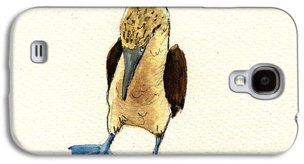 Seabirds Galaxy S4 Cases - Blue footed booby Galaxy S4 Case by Juan  Bosco