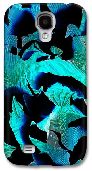 Abstract Digital Art Galaxy S4 Cases - Blue Fragments Galaxy S4 Case by David Lane