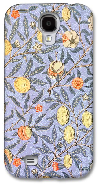 Food And Beverage Tapestries - Textiles Galaxy S4 Cases - Blue Fruit Galaxy S4 Case by William Morris
