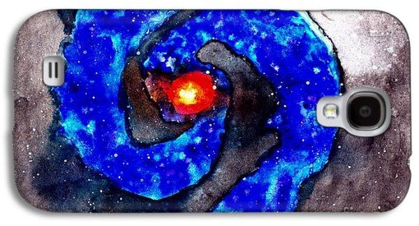 Spiral Pastels Galaxy S4 Cases - Blue Galaxy Galaxy S4 Case by Julio Haro