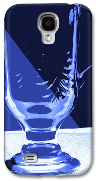 Stein Mixed Media Galaxy S4 Cases - Blue Glass Galaxy S4 Case by Bob Pardue